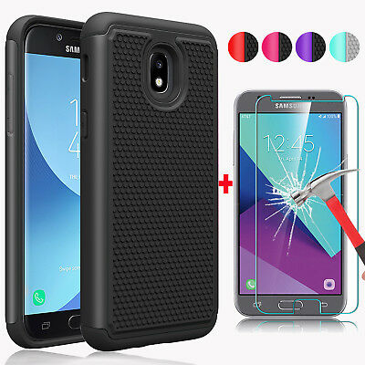For Samsung Galaxy J3 V 2018/Star/Amp/Express Prime 3 Hard Case+Screen Protector
