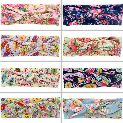 Baby Toddler Girls Colorful Floral Paisley Turban Headband Hair Accessories