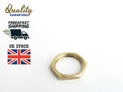 M19x1mm Low Profile Thin Panel Brass Nut For Switches, Locks, Buttons etc