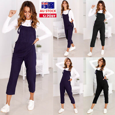 Women Denim Jumpsuit Dungaree Overalls Bib Jeans Rompers Trousers Pants Playsuit