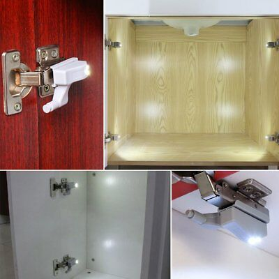 LED Smart Sensor Light Kitchen Cabinet Cupboard Closet Wardrobe Hinge Lights