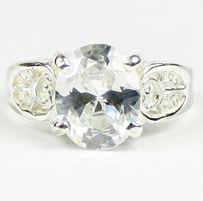 • SR369, 3.3 carat Cubic Zirconia, Sterling Silver Ladies Ring - Handmade
