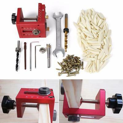 Pocket Hole & Dowel Jig Position Drill Guide Woodworking Joinery Master Tool Kit