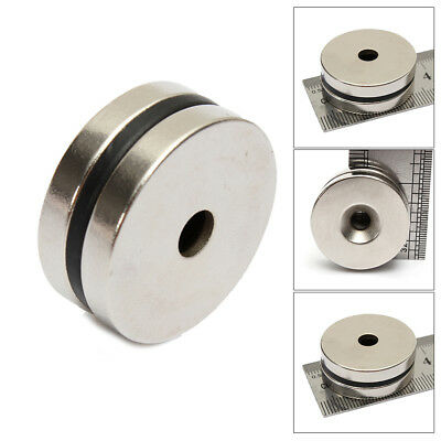2Pcs Strong N35 Magnet 30mm x 5mm Rare Earth Neodymium Magnets Disc Hole 5mm