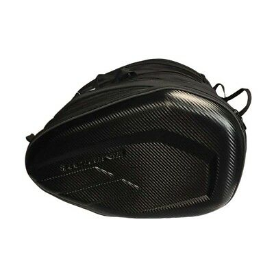 Outdoor Universal Motorcycle Saddle Bags Luggage Pannier 36-58L w/Rain Cover