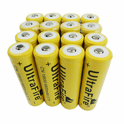 16X 18650 Batterie 9800mAh Rechargeable 3.7V Li-ion Battery pour Torch Light RC