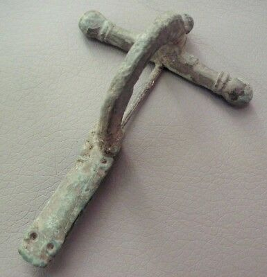 Massive Ancient Roman Legionary Bronze Crossbow Fibula Brooch - 300 Ad - Rare!