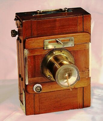 Antique French wooden Photographic camera
