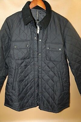 #132 Barbour 'Tinford' Regular Fit Quilted Jacket Size M   NAVY