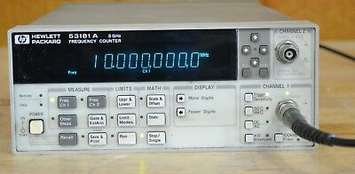 HP Agilent 53181A Frequency Counter 10-Digit/s, opt 030 3GHz, Tested GOOD