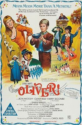 """/""""OLIVER/"""" ..Mark Lester Oliver Reed Classic Musical Movie Poster A1 A2 A3 A4Sizes"""