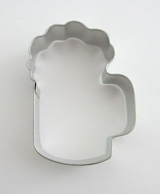 """3.5"""" Beer Mug Draft Glass Tin Plated Steel Bar Alcohol Party Cookie Cutter"""
