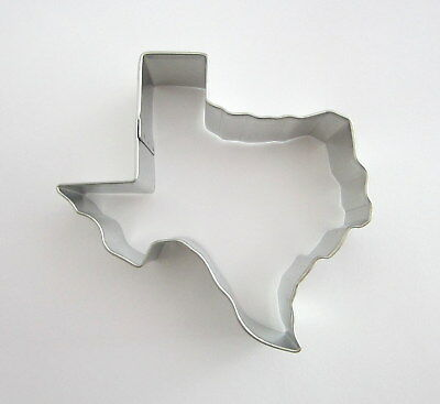 """3.5"""" Texas Shaped Tin Plated Steel Fondant Lone Star State Party Cookie Cutter"""