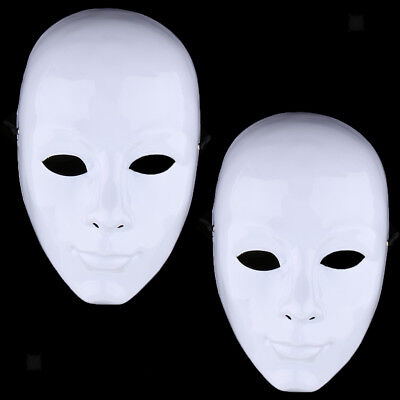 white full face small paper mache masquerade costume mask diy craft