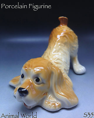 English springer spaniel Dog Porcelain. Made in Russia