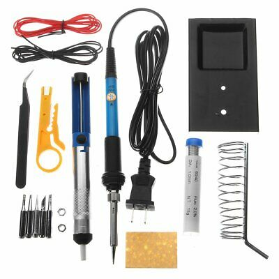 60W Adjustable Electric Temperature Gun Welding Soldering Iron Tool Kit 110V