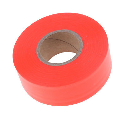 Non Adhesive Flagging Tape Marking Ribbon Trail Marker Bright Colored Orange