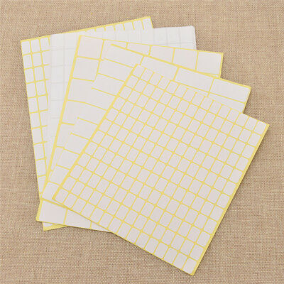 15 Sheets/pack Blank White Sticker Label Name Stickers Blank Paper Note Decals
