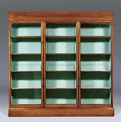 Early Victorian Brass-Mounted Mahogany Bookcase from Royal Botanic Gardens Kew