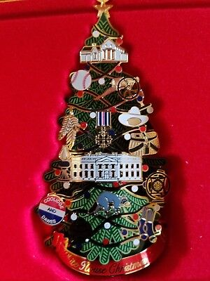 The White House Historical Association 2015 Christmas Ornament, Box, & Pamphlet