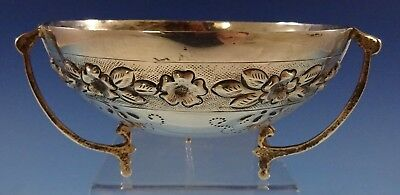 """Aztec Rose by Maciel Sterling Silver Bowl Footed 6"""" x 3"""" #5457 (#2647)"""
