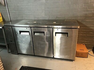 3 -Tap Commercial Grade Kegerator, Stainless Steel, EUC