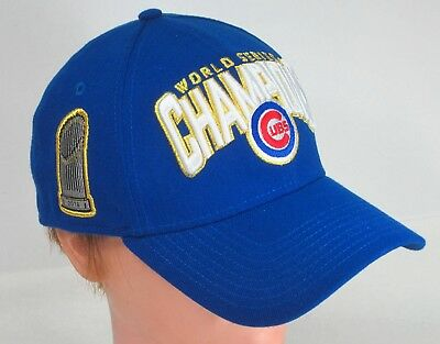 89670d46c7e ... good new era 39thirty chicago cubs 2016 world series champions fitted  hat cap small 75f95 f181b