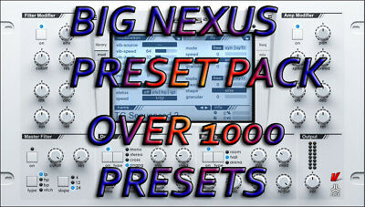 Nexus Big Preset Pack - Instant Download
