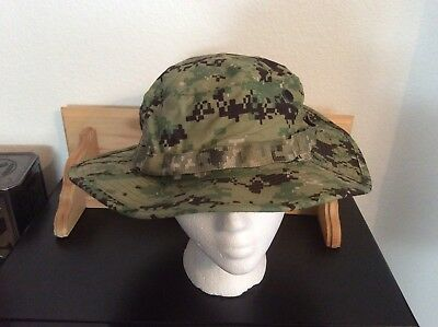 US Navy Nwu Type iii AOR2 Green Digital Boonie Hat New With Tags Size Small