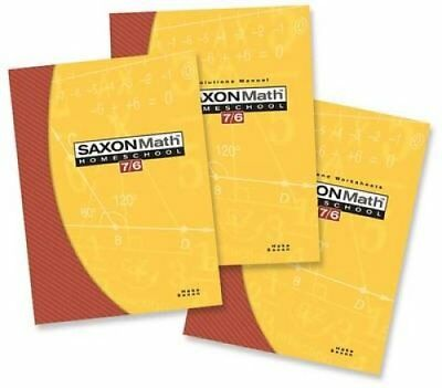 Saxon Math 7/6 Homeschool Kit by Stephen Hake and Saxon Publishers Staff...