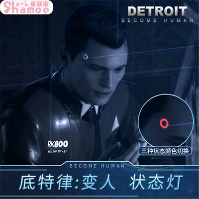 Detroit: Become Human Wireless Temple Led Light Connor Cosplay Prop Gift