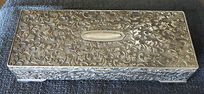 Silver Plate Antique Style Lined Jewellery Box #15