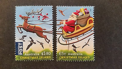 N0-2--2016  Christmas   Island -Christmas   Issues   2 Stamps -F/s --Used