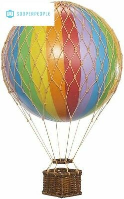 Floating The Skies Hot Air Balloon Color Rainbow Authentic Models Decor New