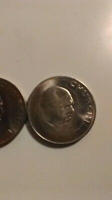 1965 Churchill Crown UK Great Britain England 5 Shillings Coin Uncirculated