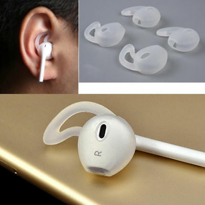 Mini 2 Pairs Headsets Cover For Apple iphone 7/8 Earhooks Silicone Holder Soft