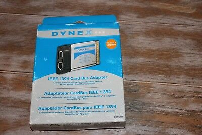 Dynex DX FC202 IEEE 1394 Firewire Port PCMCIA Card Bus Adapter