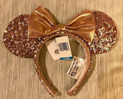 Authentic brand new with tag Disney Parks Rose Gold Minnie Ears BNWT