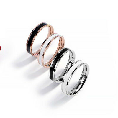 1PC Couple Stainless Steel Wedding Band Simple Men Women Love Rings Jewelry New