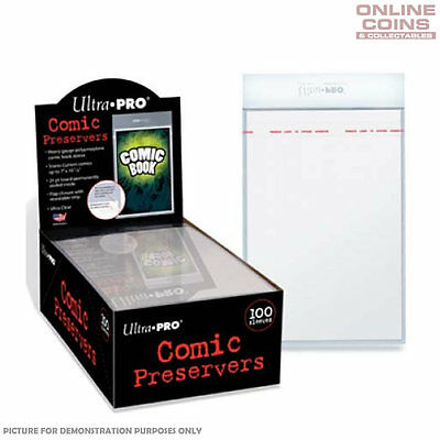 "Ultra Pro - Resealable 7"" x 10"" Ultra Clear Archival Safe COMIC PRESERVERS x 100"