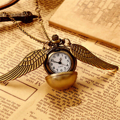 Snitch Watch Necklace Steampunk Quidditch Pocket Clock Pendant-DRP