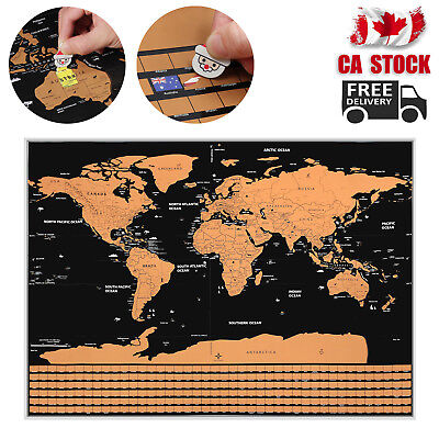 Map Poster Scratch Off World Map Poster Scratchable World Travel Map Poster CA