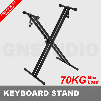 Keyboard Stand Double Braced Height Adjustable Folding Music Piano Holder