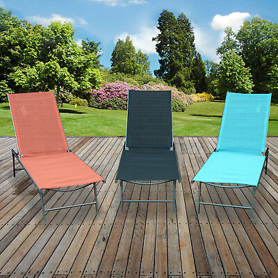 Sun Lounger Folding Day Bed Outdoor Garden Patio Furniture Relaxer Reclining