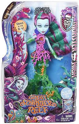 New Official Monster High Great Scarier Reef Posea Doll Glow In The Dark