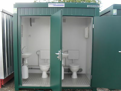 NEW Portable Double Toilet 8ft x 5ft with Fork Lift Pockets. £2950.00+vat