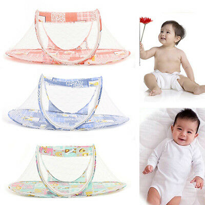 1X Portable Folding Pop Up Baby Mosquito Net Bed Canopy Tent Crib Travel Strict