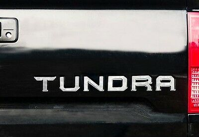 14-18 Toyota Tundra Tailgate Letter Inserts Chrome Trim Molding Decal 3D Raised
