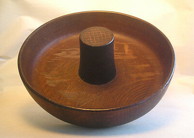 An Antique Japanese Turned Wood Carved Nut Bowl Z17