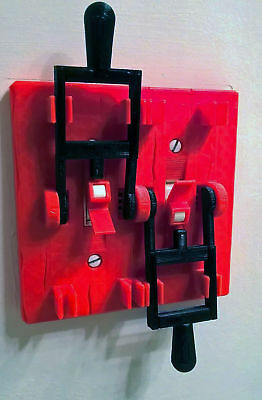 Halloween Frankenstein Dual Light Switch Plate Cover Flip Handle Toggle - RED
